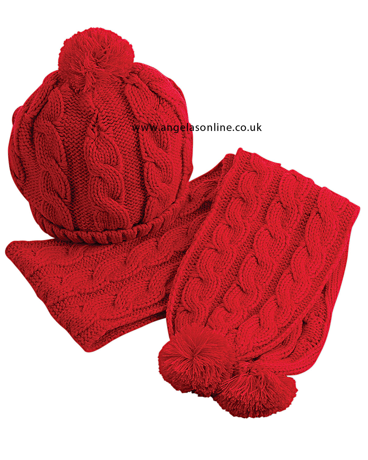 Sarah Louise Boys Clothing. Warm Knitted Hat & Scarf Set 817.