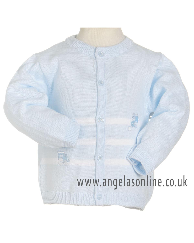 Pex Train Baby Boys Pale Blue Knit Cardigan 5336