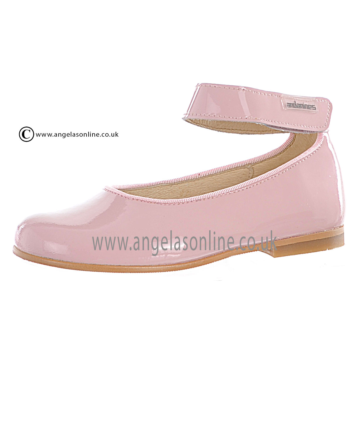 andanines pink patent leather shoe t71148