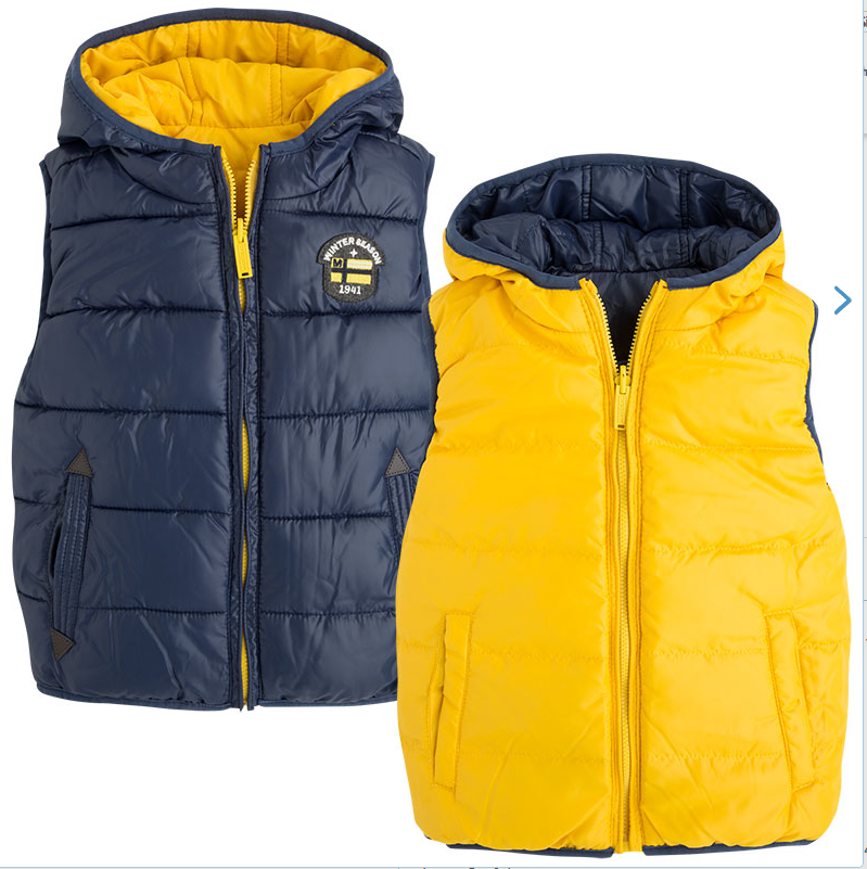 Mayoral Boys Sleeveless Gilet Body Warmer 4423 Yellow
