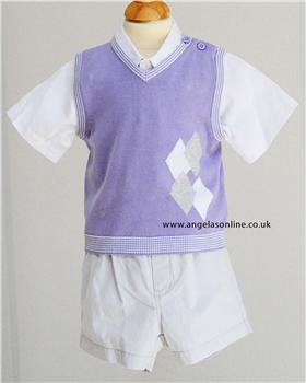 Mayoral boys shirt, tank top and short set 1351/90