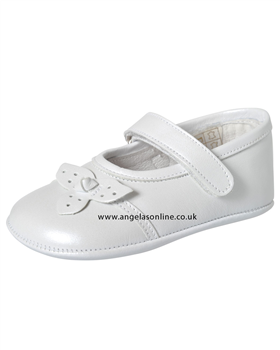 Andanines Baby Girl Pearlised White Shoe P10655