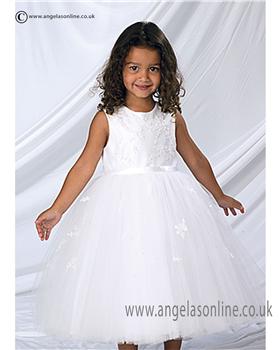 Sarah Louise Girls  Christening Dress 9408| 9936 White
