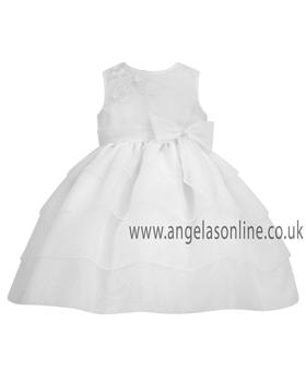 Sarah Louise Baby Girls White Christening Dress 9164wh