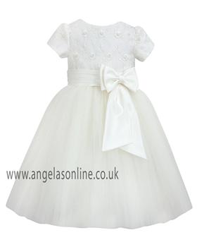 Sarah Louise Girls Christening Dress  070034-9434 Ivory