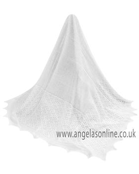 Sarah Louise White Shawl 000038A White