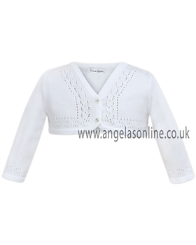 Sarah Louise Girls White Soft Knit Cardigan 641