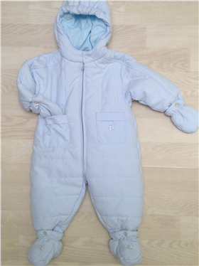 Emile et Rose Quilted pramsuit, mitts and booties 1532