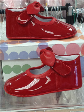 Andanines Baby Girls Red Patent Leather Shoe T10118RD