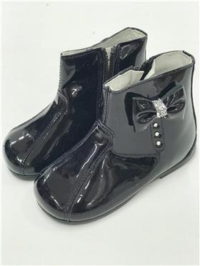 Andanines Baby Girls Navy Patent Leather Boot C92001NV