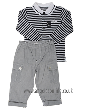 Absorba Baby Boy Short Set 9D36012 Charcoal