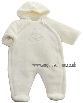 Emile et Rose Baby Boys Winter Ivory Fleece Snowsuit Dudley 1589iv