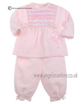 Coco Baby Girls Pale Pink  Top, Trouser & Socks Set A3035
