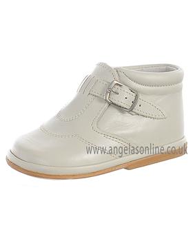Fofito Boys Hard Sole Cream Leather Boot/Shoe Dexter 61