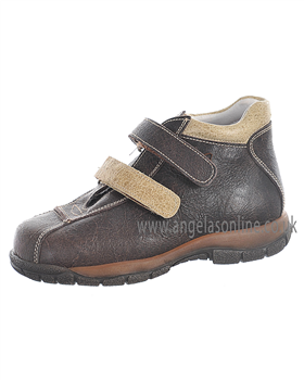 Andanines Boys Smart Brown Leather Winter Boot 21301