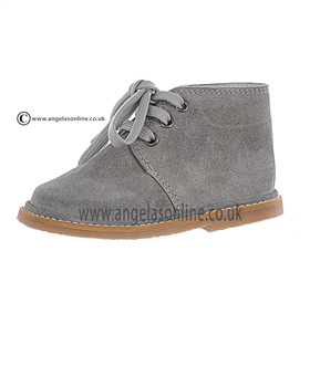 Borboleta Boys Smart Suede Light Grey Winter Boot 1416