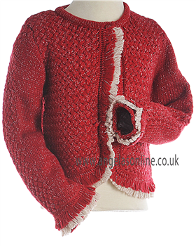 Mayoral Girls Red Warm Winter Cardigan 4368