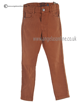 Mayoral Boys Rust Coloured Canvas Trouser 4512