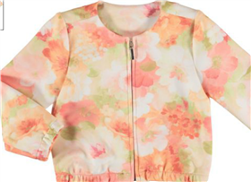Mayoral Girls Floral Bomer Jacket 3403 Peach