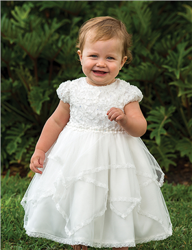 Sarah Louise Girls Christening Dress 9942 White