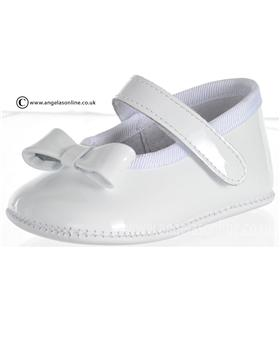 Pretty Originals Baby Girls White Shoe UE02656