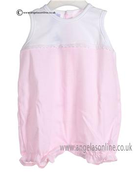 Babidu Baby Girls White and Pink All in One 1517