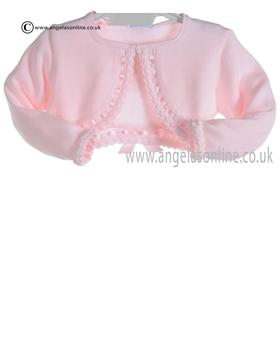 Granlei Baby Girls Pale Pink Bolero Cardigan 278