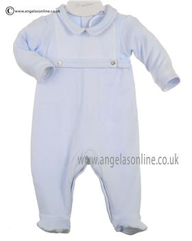 Laranjinha Baby Boys All in One Sleepsuit  5141 Blue