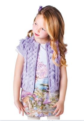 Mayoral Baby Girls Fur Gilet 4349 Lilac