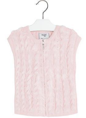Mayoral Baby Girls Fur Gilet In Pink 4349