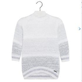 Mayoral Girls Long Sleeve Jumper Dress 4953 Grey