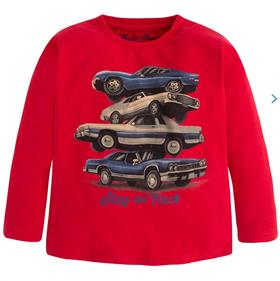 Mayoral Boys Long Sleeved Top 4027 Red