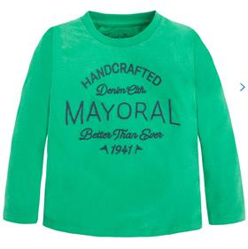 Mayoral Boys Long Sleeve Top 173 Green