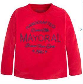 Mayoral Boys Long Sleeve Top 173 Red