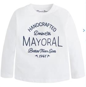 Mayoral Boys Long Sleeve Top 173 White