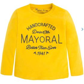 Mayoral Boys Long Sleeve Top 173 Yellow