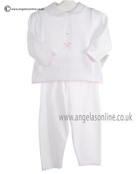 Pex Baby Girls Jumper & Trousers Lara 6046 White