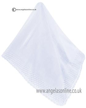 Sarah Louise Shawl 000008A WHITE
