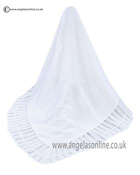 Sarah Louise Shawl 00006A White