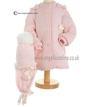 Bufi Baby Girls Knitted Coat 9288A Pink