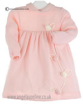 Bufi Baby Girls Knitted Dress 9288V Pink