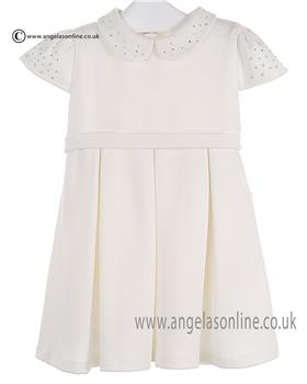 Bufi Girls Dress 9175A Cream