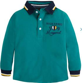 Mayoral Boys Long Sleeve Polo 4109 Green