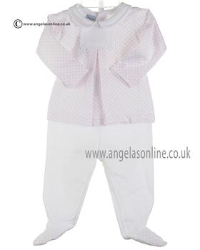 Babidu Baby Girls Top & Footsie Bottom 56215 Pink