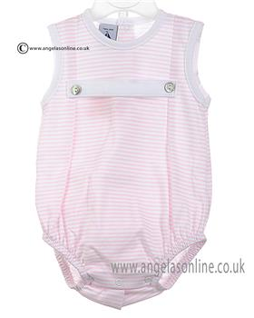Babidu Baby Girls Sleeveless Romper 19213 Pink