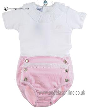 Babidu Baby Girls Top/Jam Pants 422 Pink
