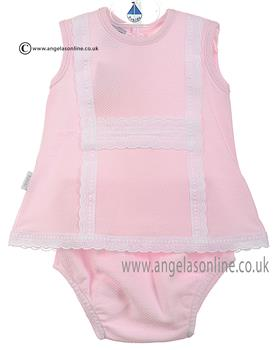 Babidu Baby Girls Ruffle Neck Top/Bloomer 24300 Pink