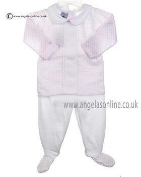 Babidu Baby Girls Top & Footsie Bottom 52215 Pink