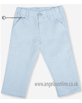 Tutto Piccolo Boys LinenTrousers 9141 Pale Blue