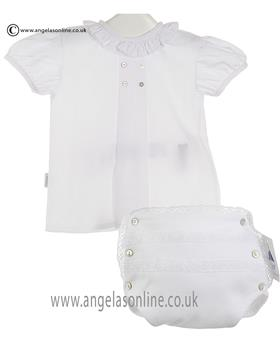 Babidu Girls Blouse/Jam Pants 80202/30300 White